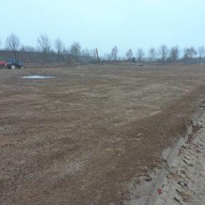 Ruim een halve hectare is ingezaaid